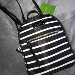 Brand New Kate Spade Striped Bookbag Purse!